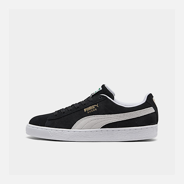 48b4ad8598b Right view of Men s Puma Suede Classic Casual Shoes in Black White