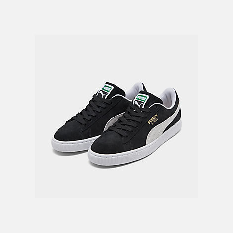 f91d81ceeb7 Three Quarter view of Men s Puma Suede Classic Casual Shoes in Black White