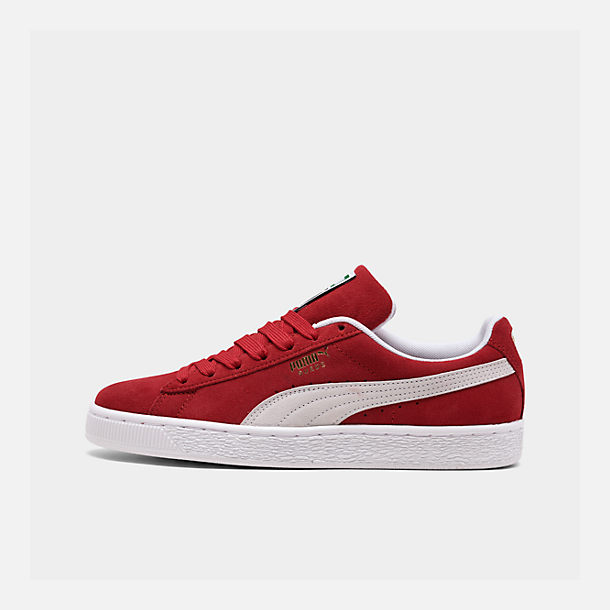 Right view of Men's Puma Suede Classic Casual Shoes in Red/White