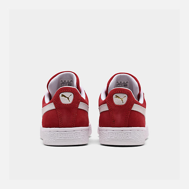 Left view of Men's Puma Suede Classic Casual Shoes in Red/White