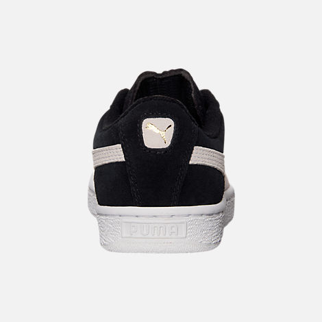 5ecf92bb01a Back view of Boys  Big Kids  Puma Suede Jr. Casual Shoes in Black