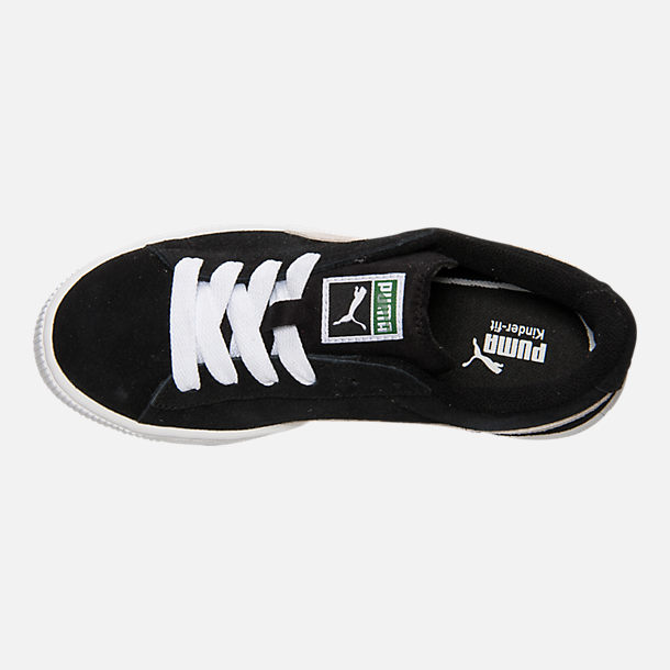 16889227e07 Top view of Boys  Big Kids  Puma Suede Jr. Casual Shoes in Black
