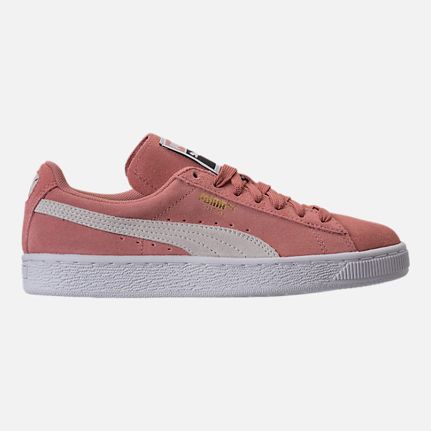 Right view of Women s Puma Suede Classic Casual Shoes in Cameo Brown White 5a2a093a2
