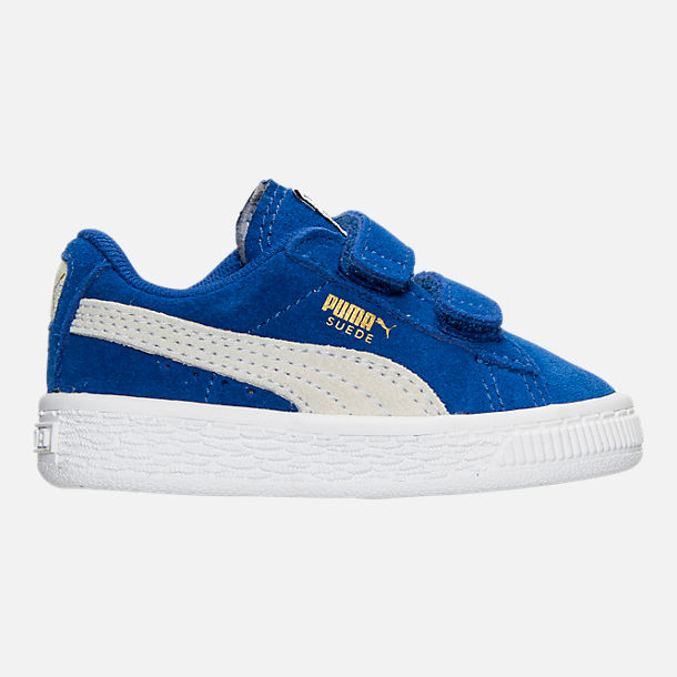 Right view of Boys' Toddler Puma Suede Casual Shoes in Snorkel Blue