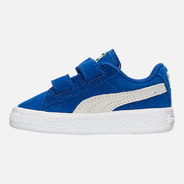 Left view of Boys' Toddler Puma Suede Casual Shoes in Snorkel Blue