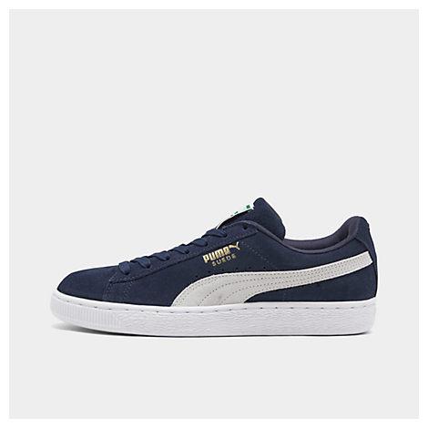 Puma Shoes MEN'S SUEDE CLASSIC+ CASUAL SHOES, BLUE