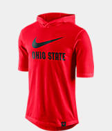 Men's Nike Ohio State Buckeyes College Statement Basketball Short-Sleeve Hooded Shirt