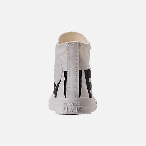 Back view of Boys' Preschool Converse Chuck Taylor All Star Wordmark High Top Casual Sneakers in Wordmark Black/Natural