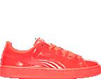 Boys' Grade School Puma Basket Patent Casual Shoes