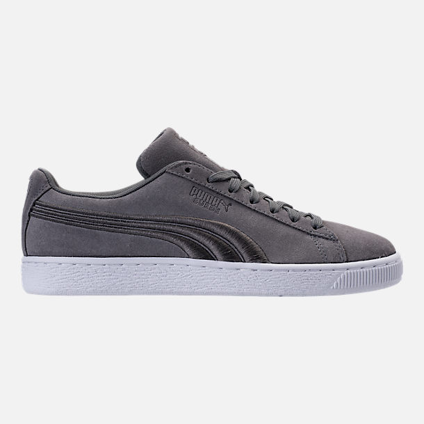 Right view of Men's Puma Suede Classic Badge Casual Shoes in Quiet Shade