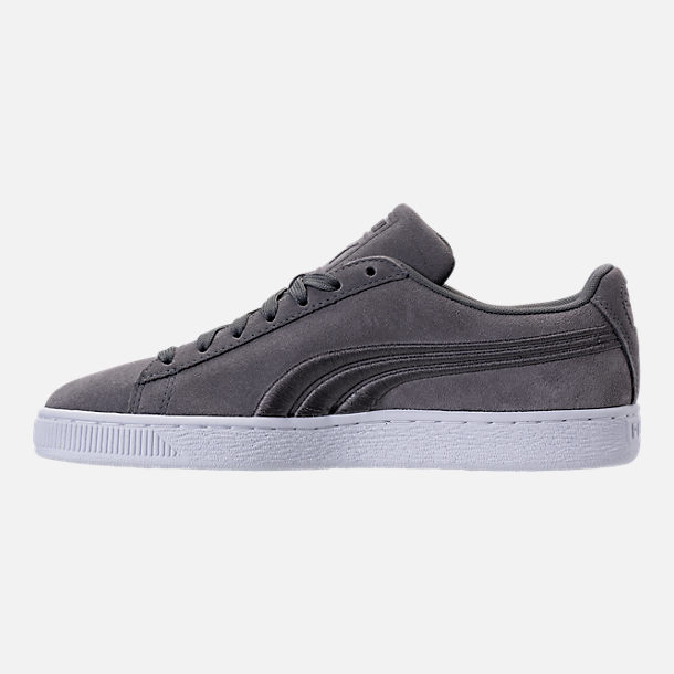 Left view of Men's Puma Suede Classic Badge Casual Shoes in Quiet Shade