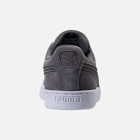 Back view of Men's Puma Suede Classic Badge Casual Shoes in Quiet Shade