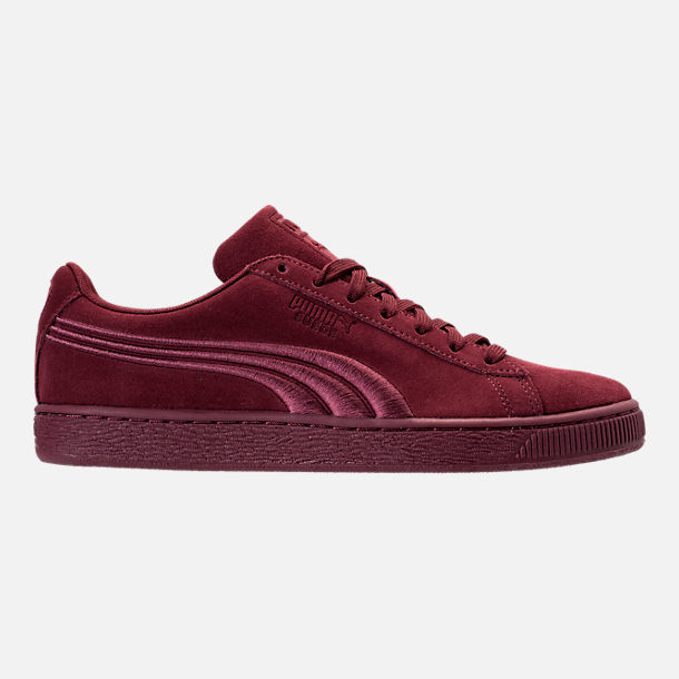 Right view of Men's Puma Suede Classic Badge Casual Shoes in Cabernet