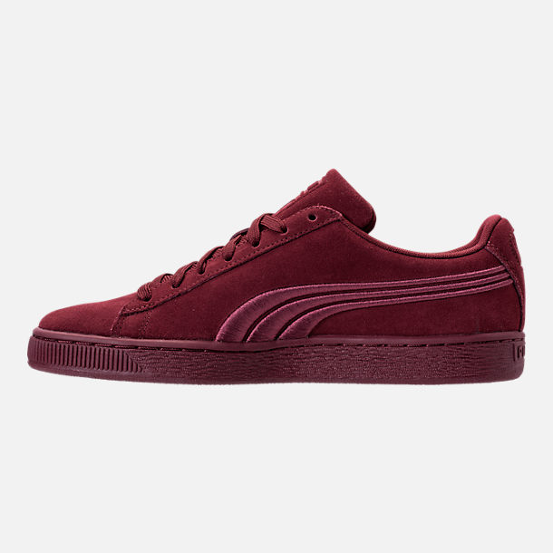 Left view of Men's Puma Suede Classic Badge Casual Shoes in Cabernet