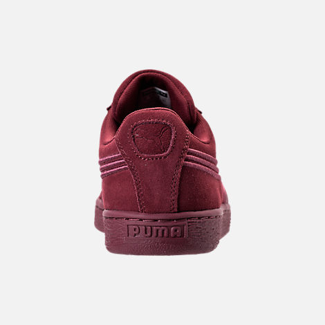 Back view of Men's Puma Suede Classic Badge Casual Shoes in Cabernet