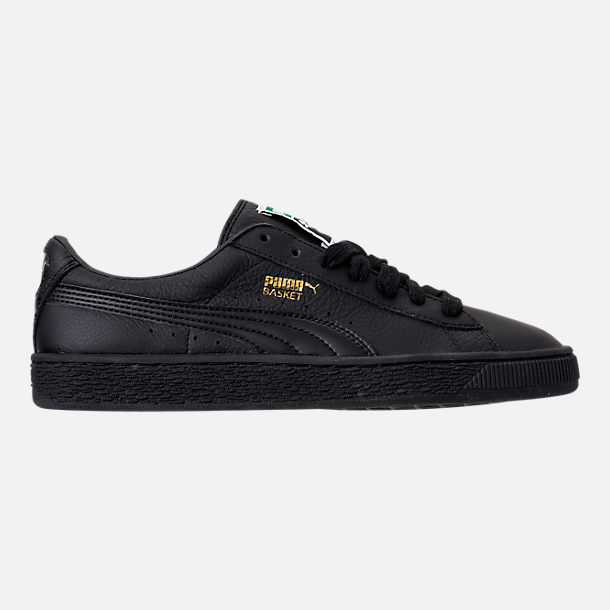 Right view of Women's Puma Basket Classic LFS Casual Shoes in Black