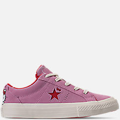 Girls' Preschool Converse One Star Ox Hello Kitty Casual Shoes