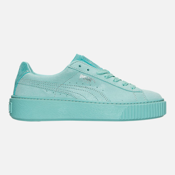 Right view of Women's Puma Suede Platform Reset Casual Shoes