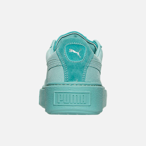 Back view of Women's Puma Suede Platform Reset Casual Shoes