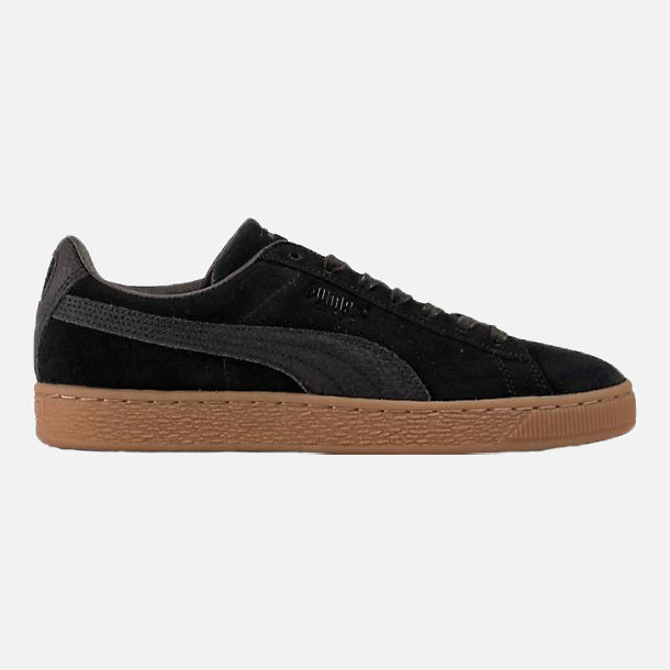Right view of Unisex Puma Suede Classic Natural Warmth Casual Shoes in Puma Black/Gum