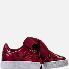 Girls' Preschool Puma Basket Heart Glam Casual Shoes