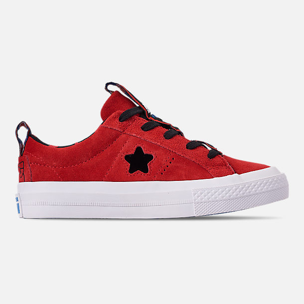 Right view of Girls' Little Kids' Converse x Hello Kitty One Star Casual Shoes in Fiery Red/Black