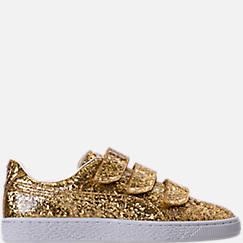 Women's Puma Basket Strap Glitter Casual Shoes