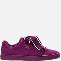 Women's Puma Suede Heart Satin II Casual Shoes