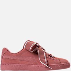 Women's Puma Suede Heart Satin Casual Shoes