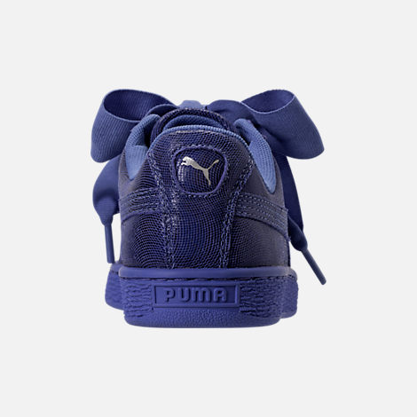Back view of Women's Puma Basket Heart NS Casual Shoes in Baja Blue/Blue