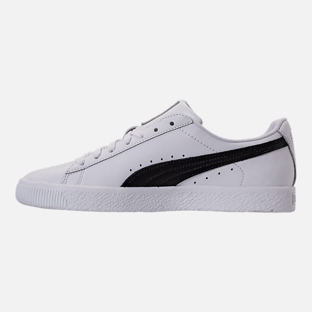 69ae579cba84 ... 9 Left view of Mens Puma Clyde Core L Foil Casual Shoes in Puma  WhitePuma .