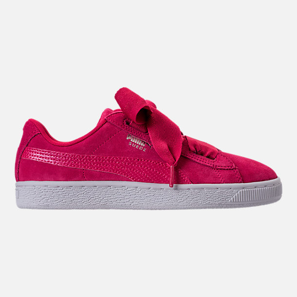 Right view of Girls' Grade School Puma Suede SNK JR Casual Shoes in Love Potion/Love Potion