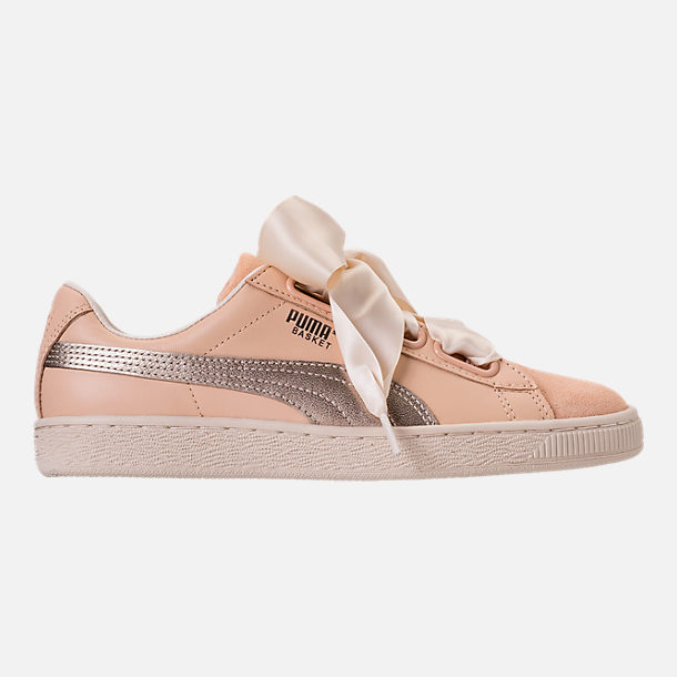 Right view of Women's Puma Basket Heart Up Casual Shoes in Natural Vachetta/Birch