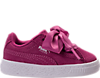 Girls' Toddler Puma Suede Heart Casual Shoes