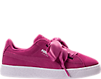 Girls' Preschool Puma Suede Heart Casual Shoes