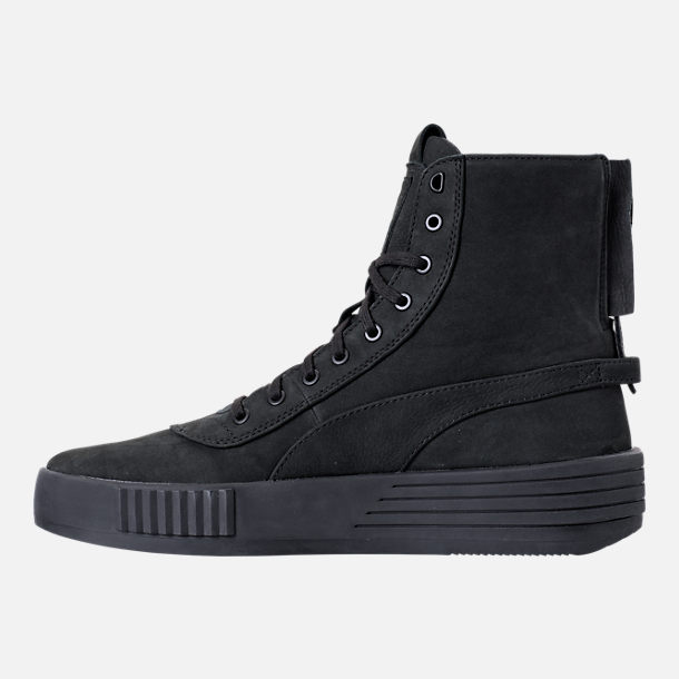 Left view of Men's Puma XO Parallel Casual Shoes in Black