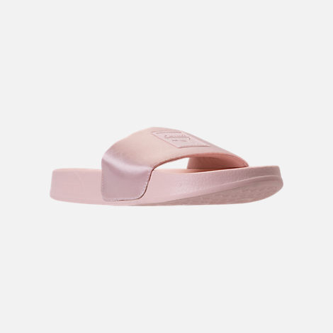 Three Quarter view of Women's Puma Leadcat Satin Slide Sandals in Pearl/Pearl