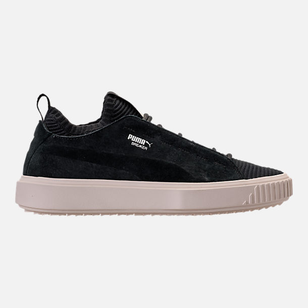 Right view of Men's Puma Breaker Knit Sunfaded Casual Shoes in Puma Black/Whisper White