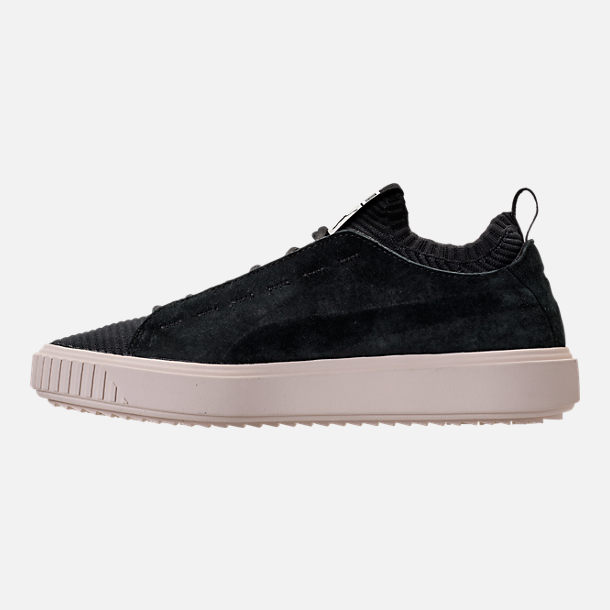 Left view of Men's Puma Breaker Knit Sunfaded Casual Shoes in Puma Black/Whisper White