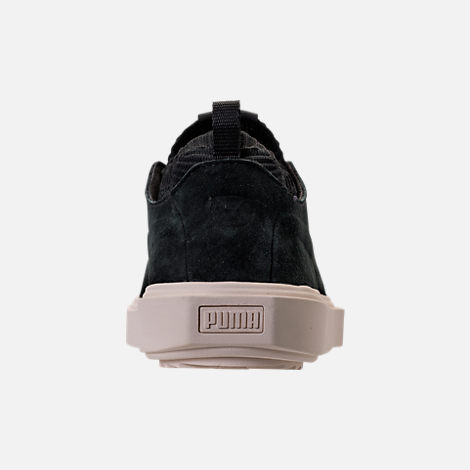 Back view of Men's Puma Breaker Knit Sunfaded Casual Shoes in Puma Black/Whisper White