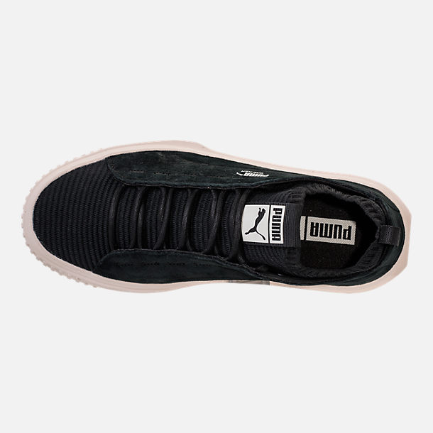 Top view of Men's Puma Breaker Knit Sunfaded Casual Shoes in Puma Black/Whisper White