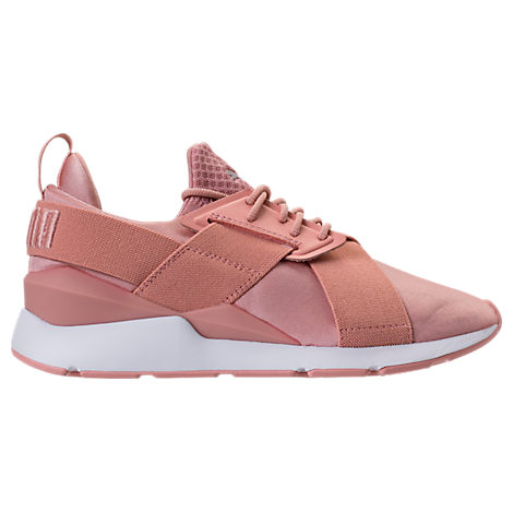 Women'S Muse Satin Ep Casual Sneakers From Finish Line, Orange