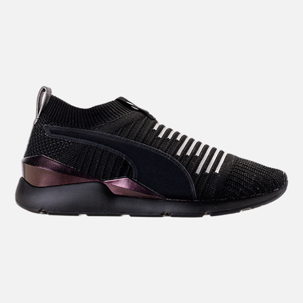 Right view of Women's Puma Muse Slip On Casual Shoes in Puma Black