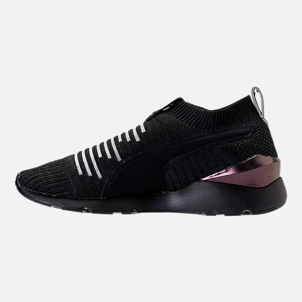 Left view of Women's Puma Muse Slip On Casual Shoes in Puma Black