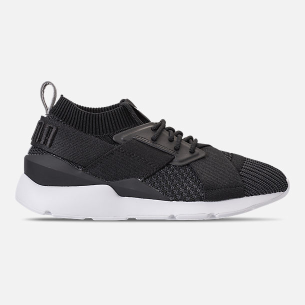 Right view of Women's Puma Muse evoKNIT Training Shoes in Black Asphalt