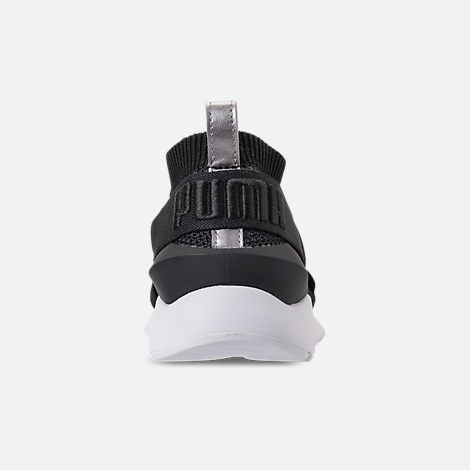 Back view of Women's Puma Muse evoKNIT Training Shoes in Black Asphalt