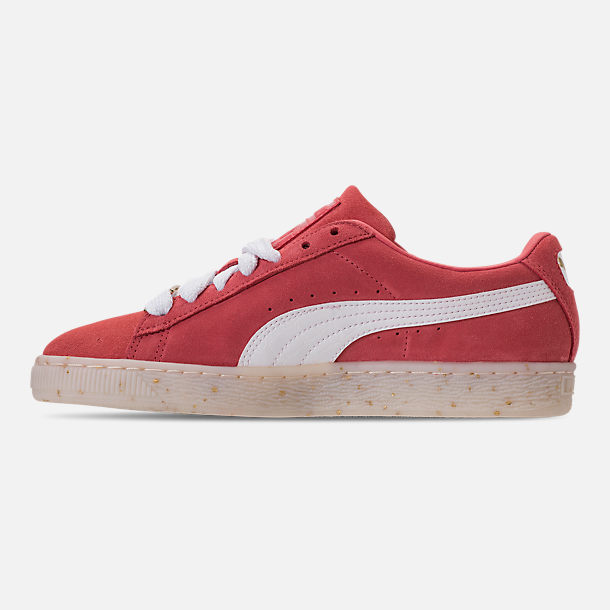 Left view of Women's Puma Suede Classic Fabulous Casual Shoes in Spiced Coral