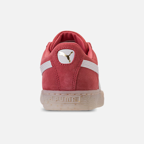 Back view of Women's Puma Suede Classic Fabulous Casual Shoes in Spiced Coral