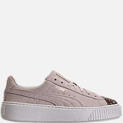 Women's Puma Suede Platform Crushed Jewel Casual Shoes