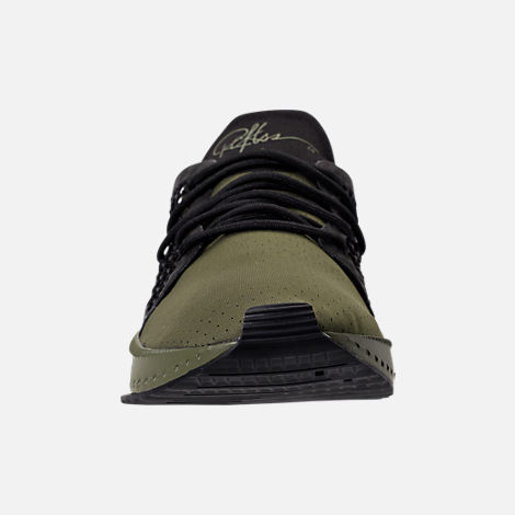Front view of Men's Puma x Young & Reckless Tsugi Netfit Casual Shoes in Black/Forest Green